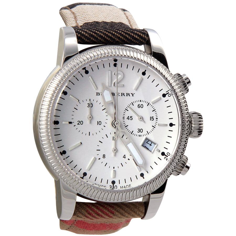 Burberrys Watch, Women's Swiss Chronograph House Check St...