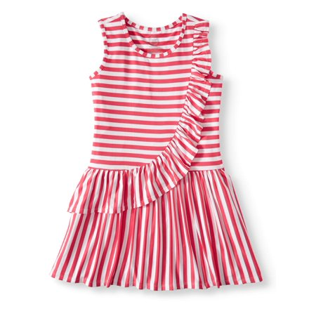Wonder Nation Asymmetric Ruffle Dress (Little Girls, Big Girls & Big Girls Plus) (Girl Dresses On Sale)
