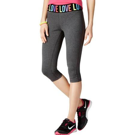Material Girl Womens Love Cropped Yoga Pants