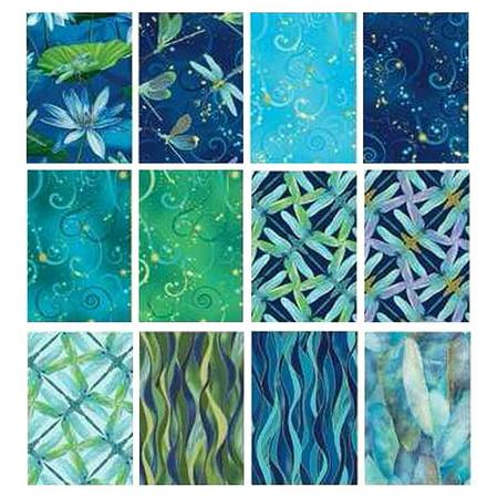 Dragonfly Cotton Fabric (Benartex DANCE OF THE DRAGONFLY 12 Fat Quarters Cotton Fabric Quilting Assortmen)
