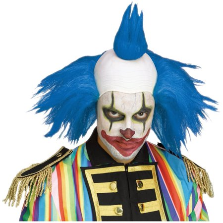 Twisted Clown Blue Wig Krusty The Simpsons Costume Klown Halloween Costume](Harlequin Clown Costume Plus Size)
