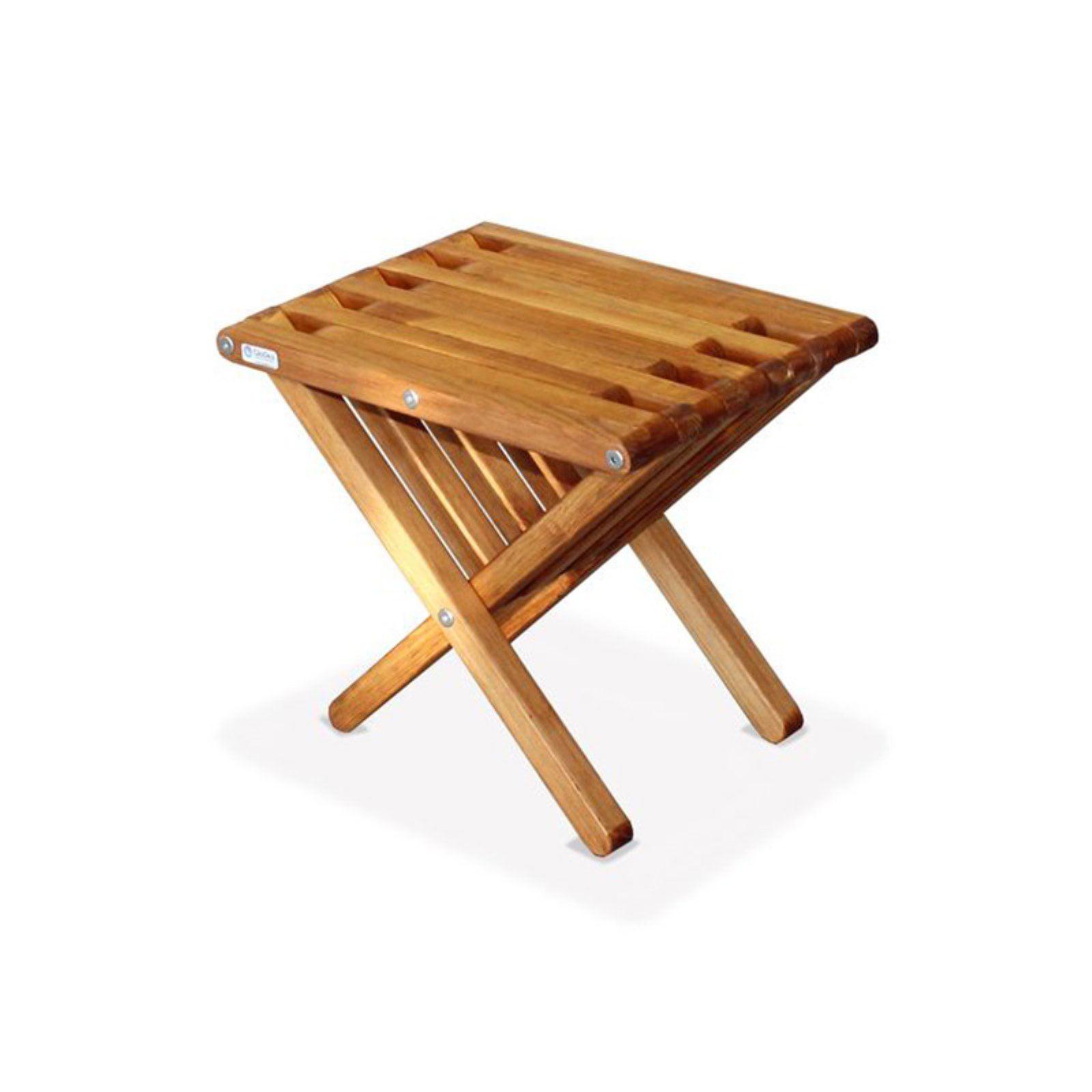 Beau GloDea Xquare X36 Short Wooden Patio End Table