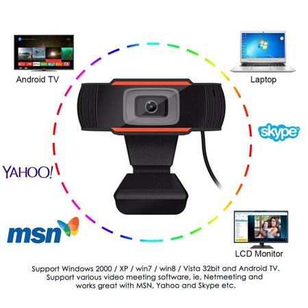 Webcam with Built-in HD Microphone Drive Free Auto Focus HD Web Cam Color:Orange - image 7 of 8