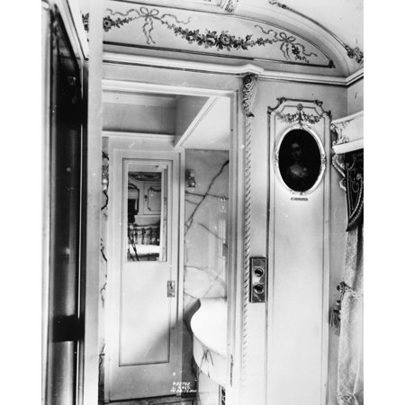 Pullman Car Loretto Ninterior Of The Private Railroad Car Loretto Built For Charles M Schwab In 1917 Poster Print By Granger Collection