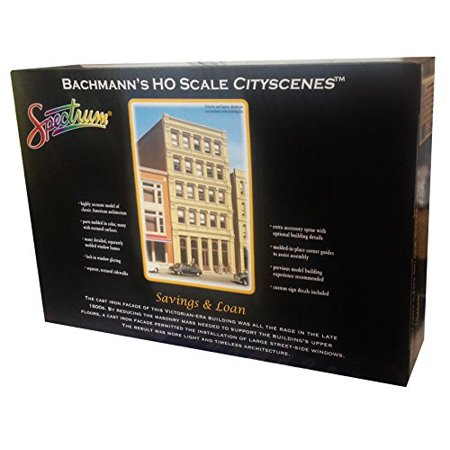 - Bachmann Industries HO Scale Savings & Loan City Scenes Building Kit