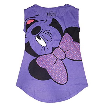 [P] Disney Junior Girls' Minnie Mouse Upside Down Hilo Tshirt - Purple (2XL) - Disney Girls