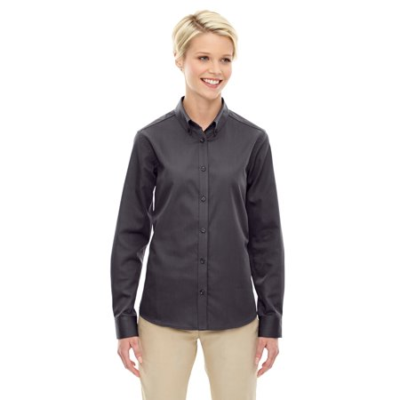 North End Establish Wrinkle Resistant Cotton Blend Dobby Striped Shirt Button Down (Black Striped 2 Button Suit)