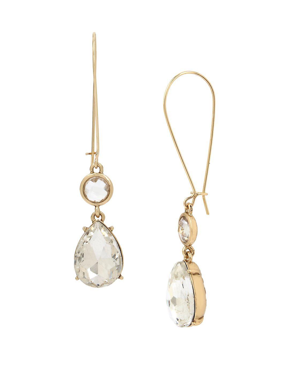 Basic Ears Crystal Drop Earrings