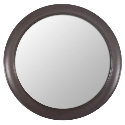 Decor Therapy Bronze Woodgrain Round Mirror by Overstock