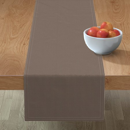 Image of Table Runner Small Stars Circles Stripes Dots Abstract Geometric Cotton Sateen