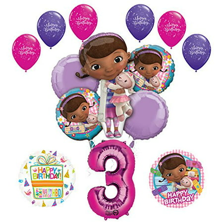 Doc McStuffins 3rd Birthday Party Supplies and Balloon Bouquet - Party And Balloon Store