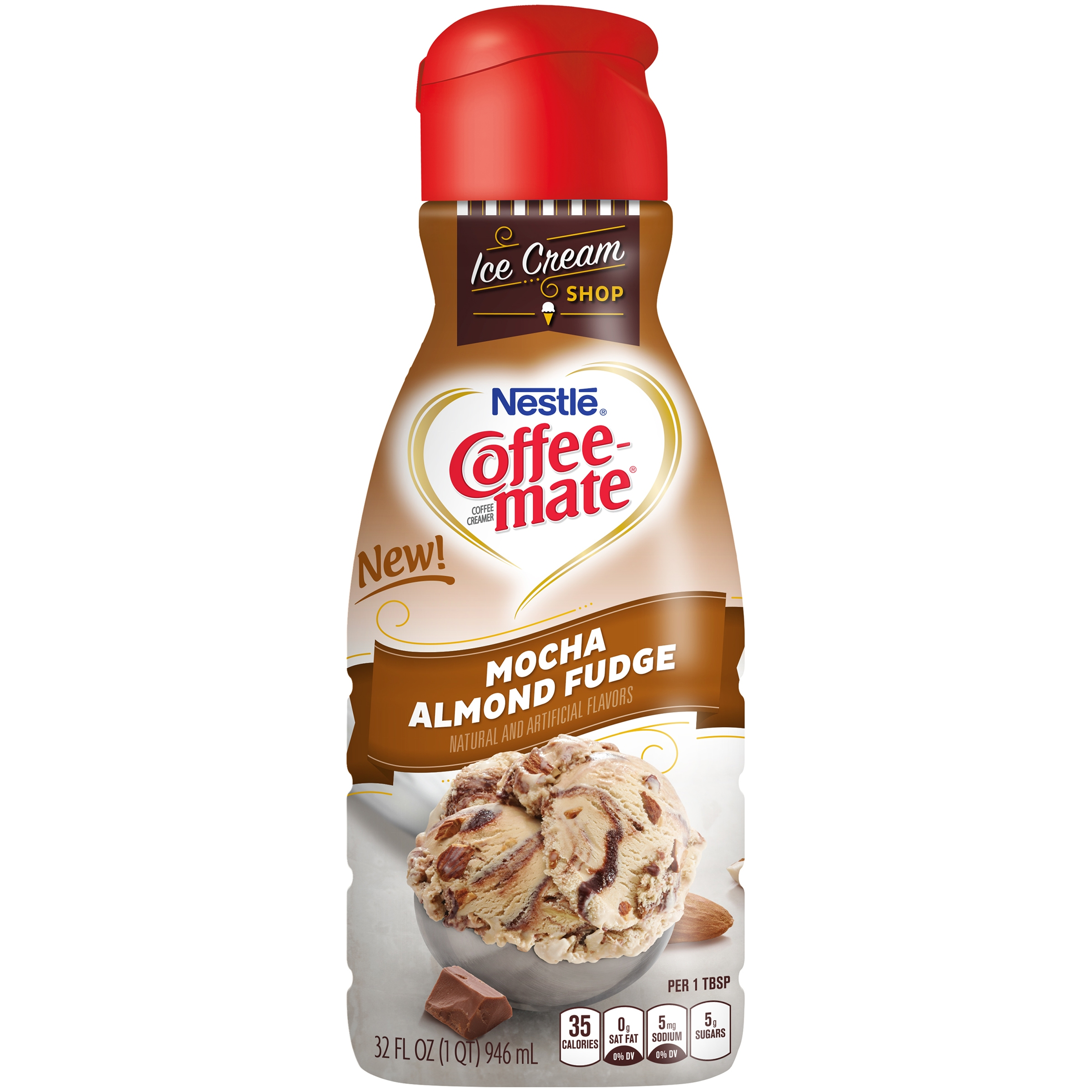 Nestle Coffeemate Mocha Almond Fudge Liquid Coffee Creamer 32 fl oz ...
