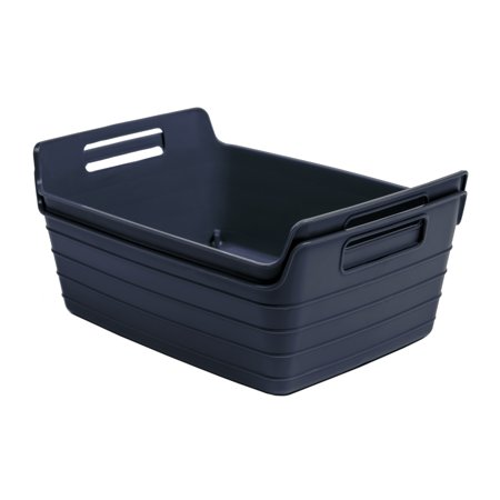 Mainstays 2pk Flex Bins Navy