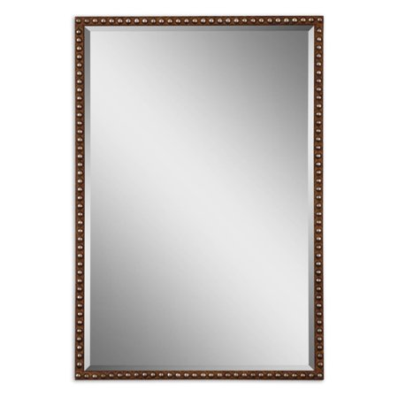 - Uttermost Tempe Metal Beaded Framed Wall Mirror - 21.5W x 31.75H in.