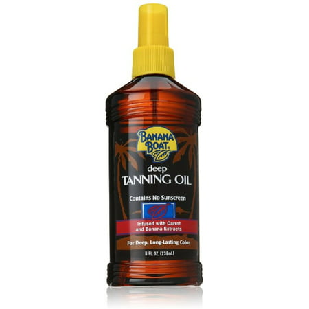 Deep Tanning Dry Oil - 2 Pack - Banana Boat Deep Tanning Oil Spray with Carrot & Banana Extracts 8 oz