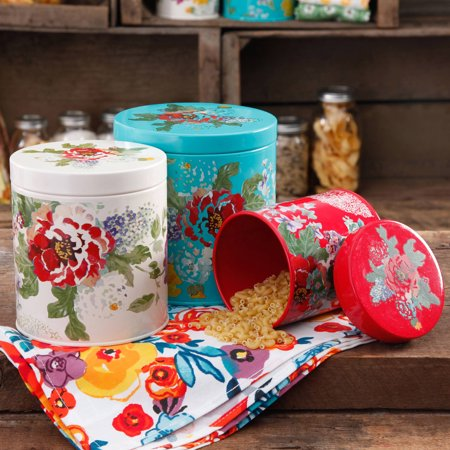 The Pioneer Woman Country Garden 3 Piece Canister Set