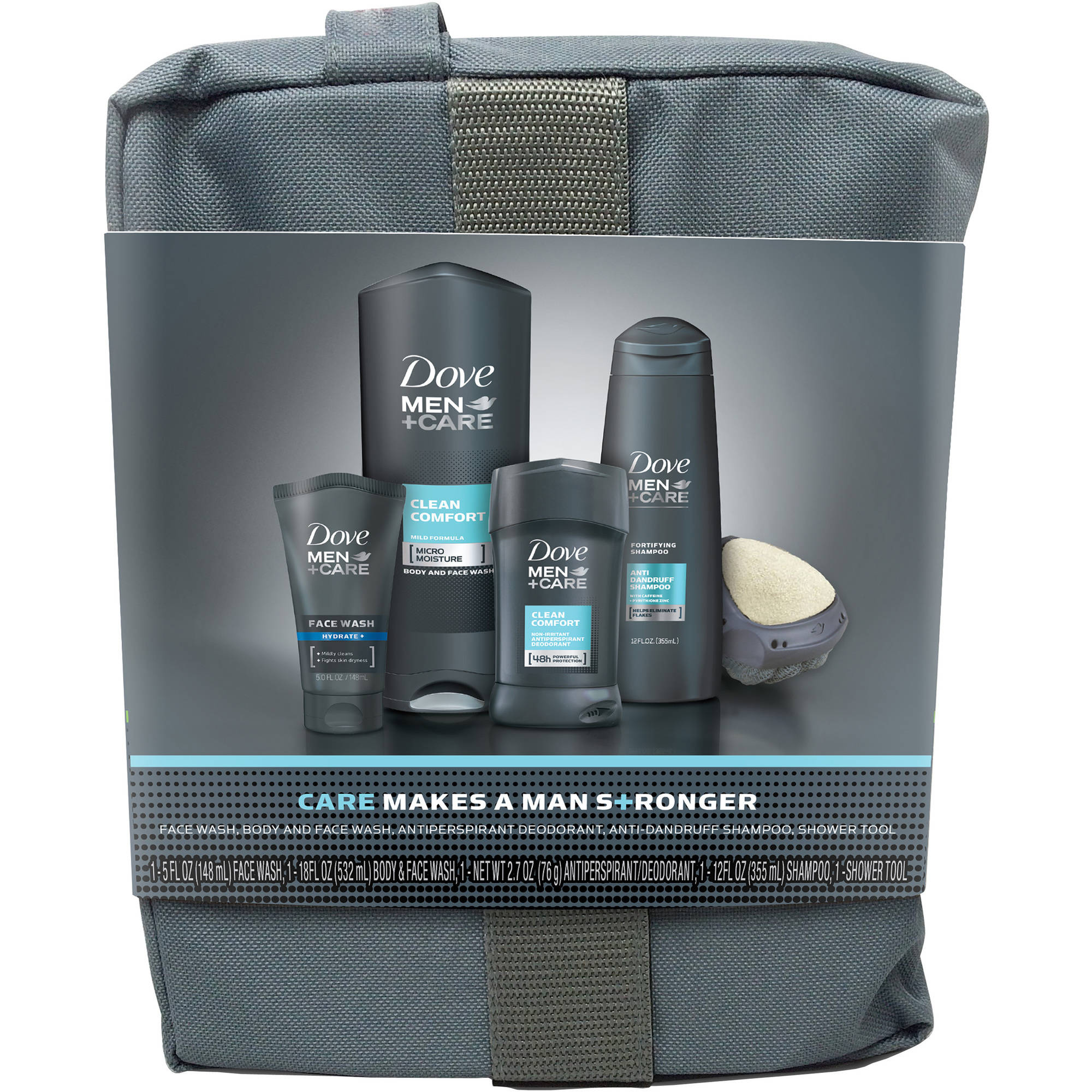 Dove Men+Care Clean Comfort Gift Bag, 5 pc