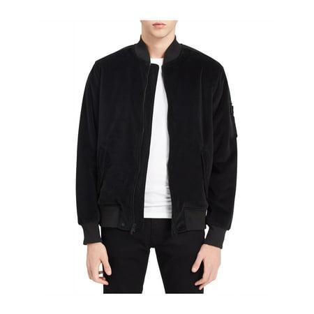 8e857d214 Calvin Klein Mens Velour Bomber Jacket black M   Walmart Canada