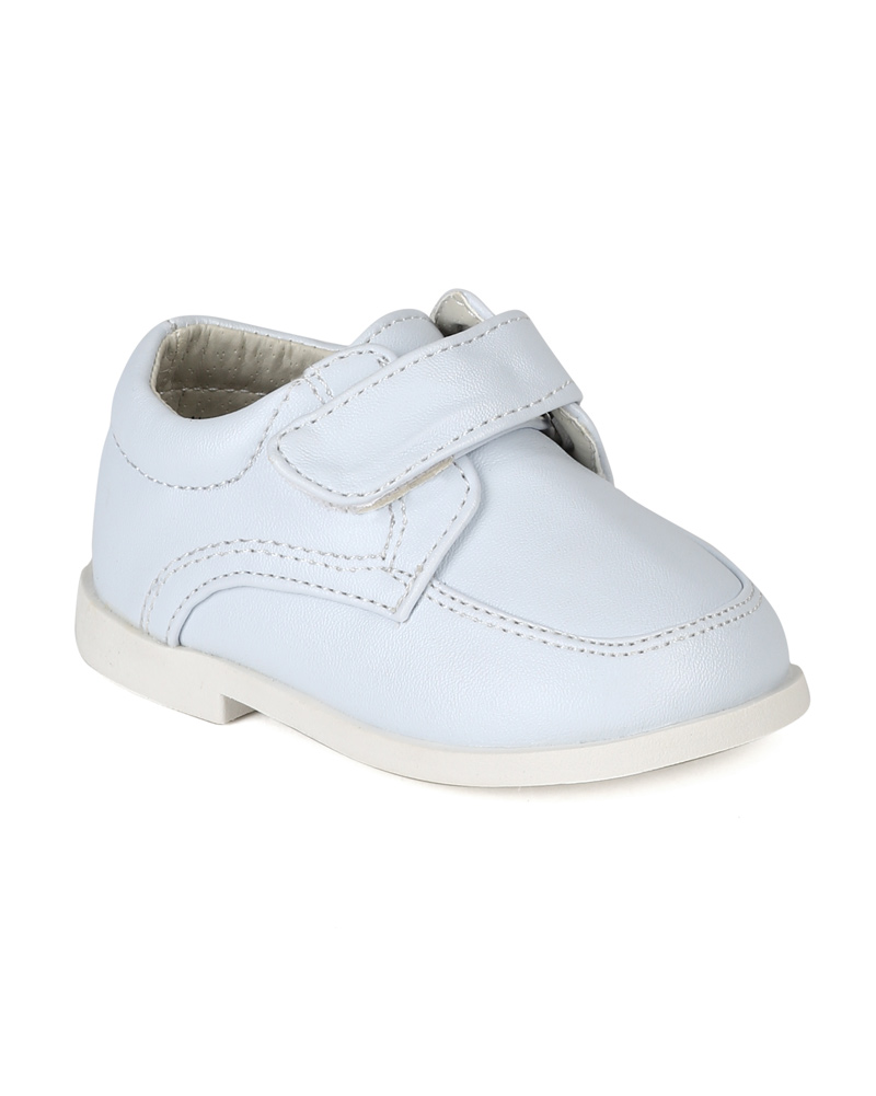 Auston AH58 Leatherette Velcro Strap School Dress Shoe (Infant / Toddler Boys)