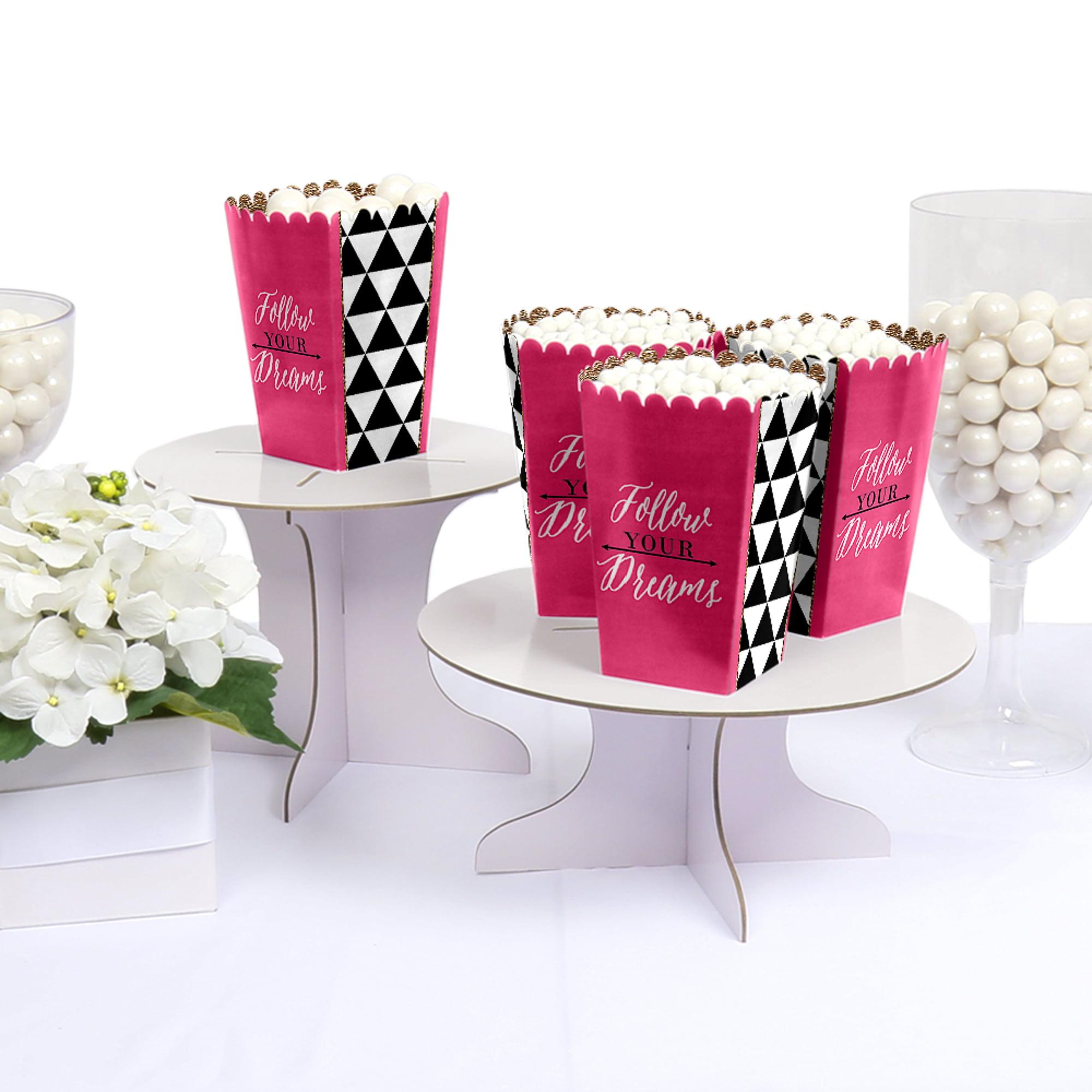 Dream Big - Graduation - Party Favor Popcorn Treat Boxes - Set of 12 ...