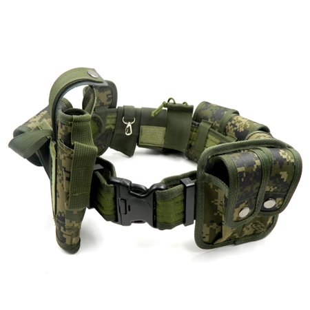 Lixada Outdoor Tactical Belt Law Enforcement Modular Equipment Police  Security Military Duty Utility Belt with Pouches Holster Gear