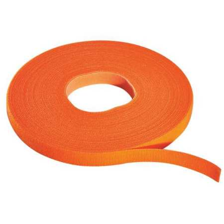 RIP-TIE Hook/Loop Cble,75 ft.x0.38in.,Orange W-75-PRL-O