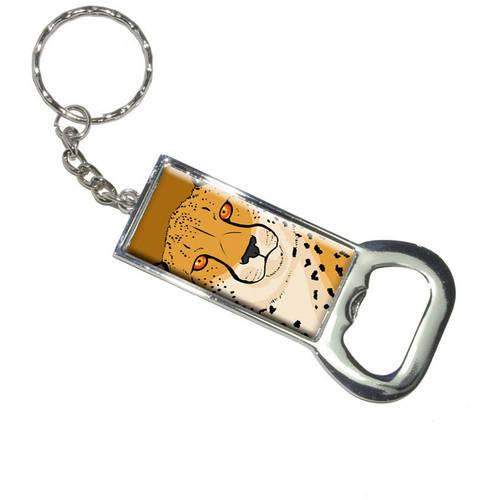 Cheetah Safari Big Cat Keychain Bottle Bottlecap Opener