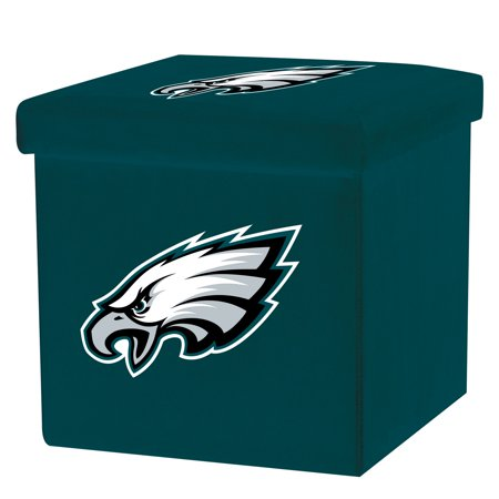 Astounding Franklin Sports Nfl Philadelphia Eagles Storage Ottoman With Detachable Lid Dailytribune Chair Design For Home Dailytribuneorg