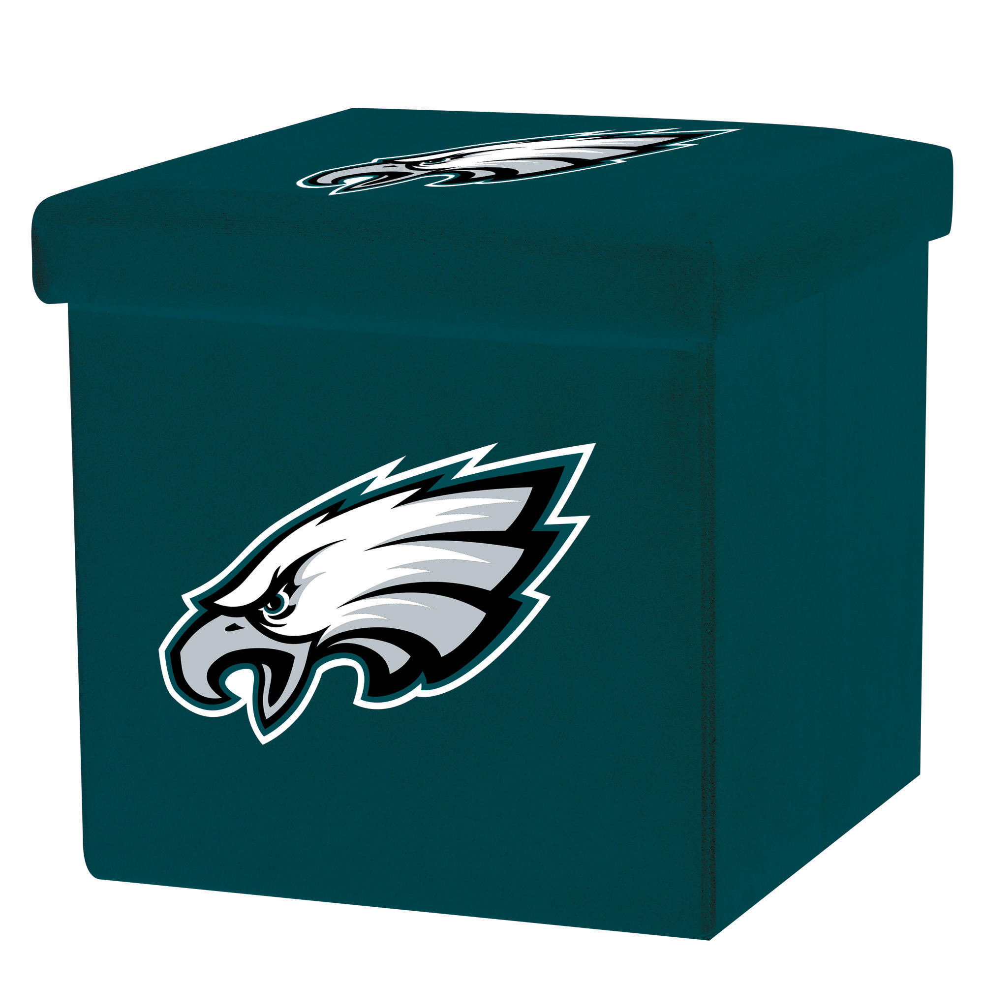 Franklin Sports NFL Philadelphia Eagles Storage Ottoman with Detachable Lid