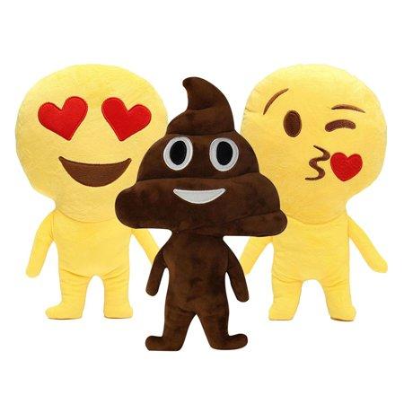 Home Emoji Poop Throw Pillows Expression Soft Cushion Stuffed Doll Plush Toys, love (Ballistic Nylon Toy Throw)