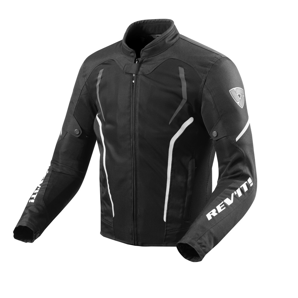 Rev'It GT-R Air 2 Mens Textile Jacket Black/White