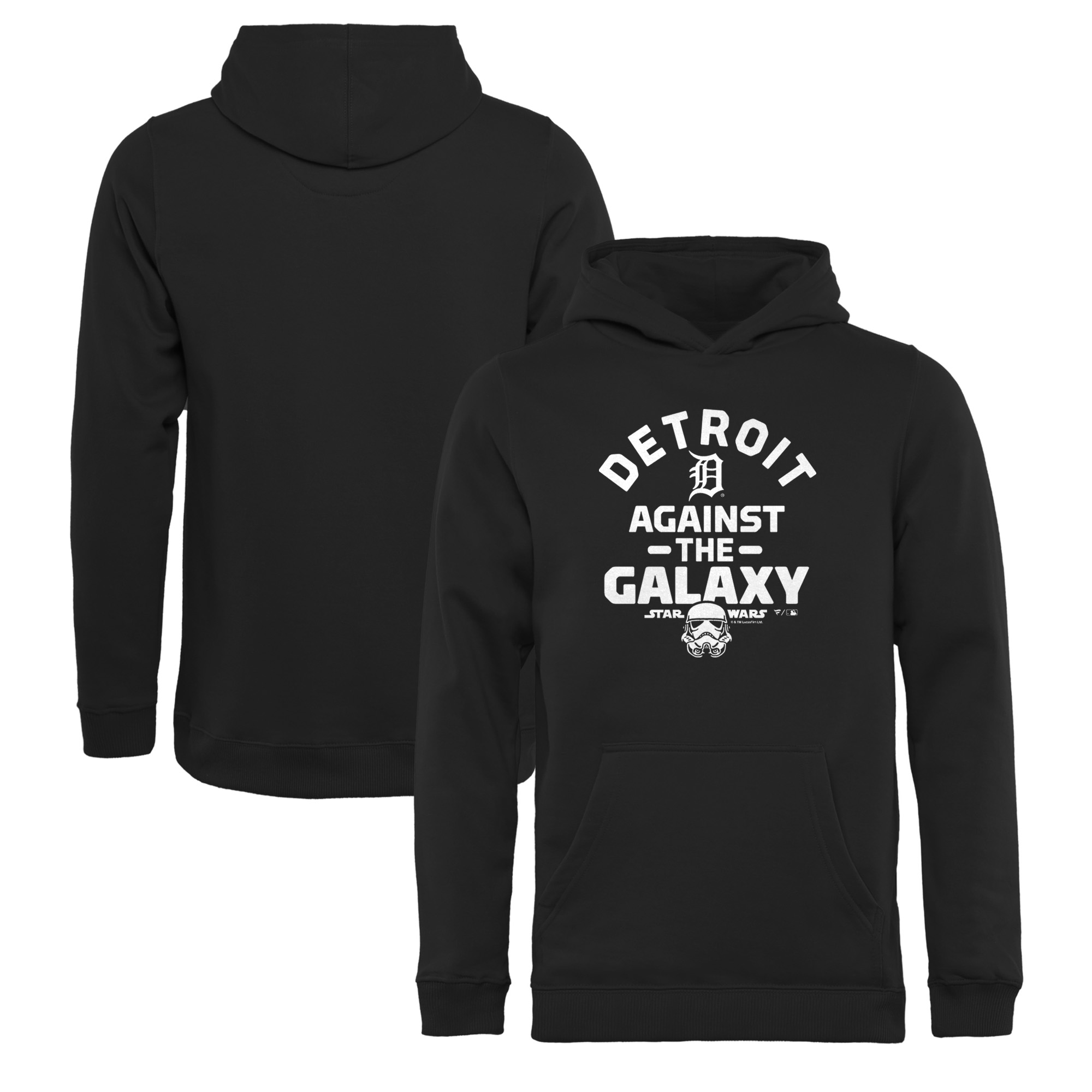 Detroit Tigers Fanatics Branded Youth MLB Star Wars Against The Galaxy Pullover Hoodie - Black