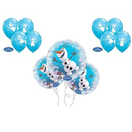OLAF SNOWFLAKES 3 mylars and 8 latex Balloons Birthday party Decoration Supplies Frozen Elsa by - Elsa Birthday Party
