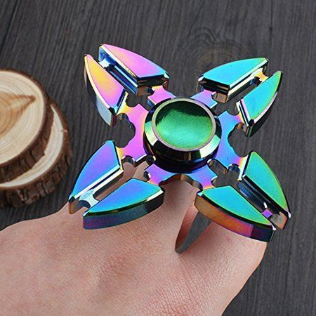 Ezshoot Rainbow Metal Fidget Hand Spinner Stress Relief Edc Toys For Kids Adults