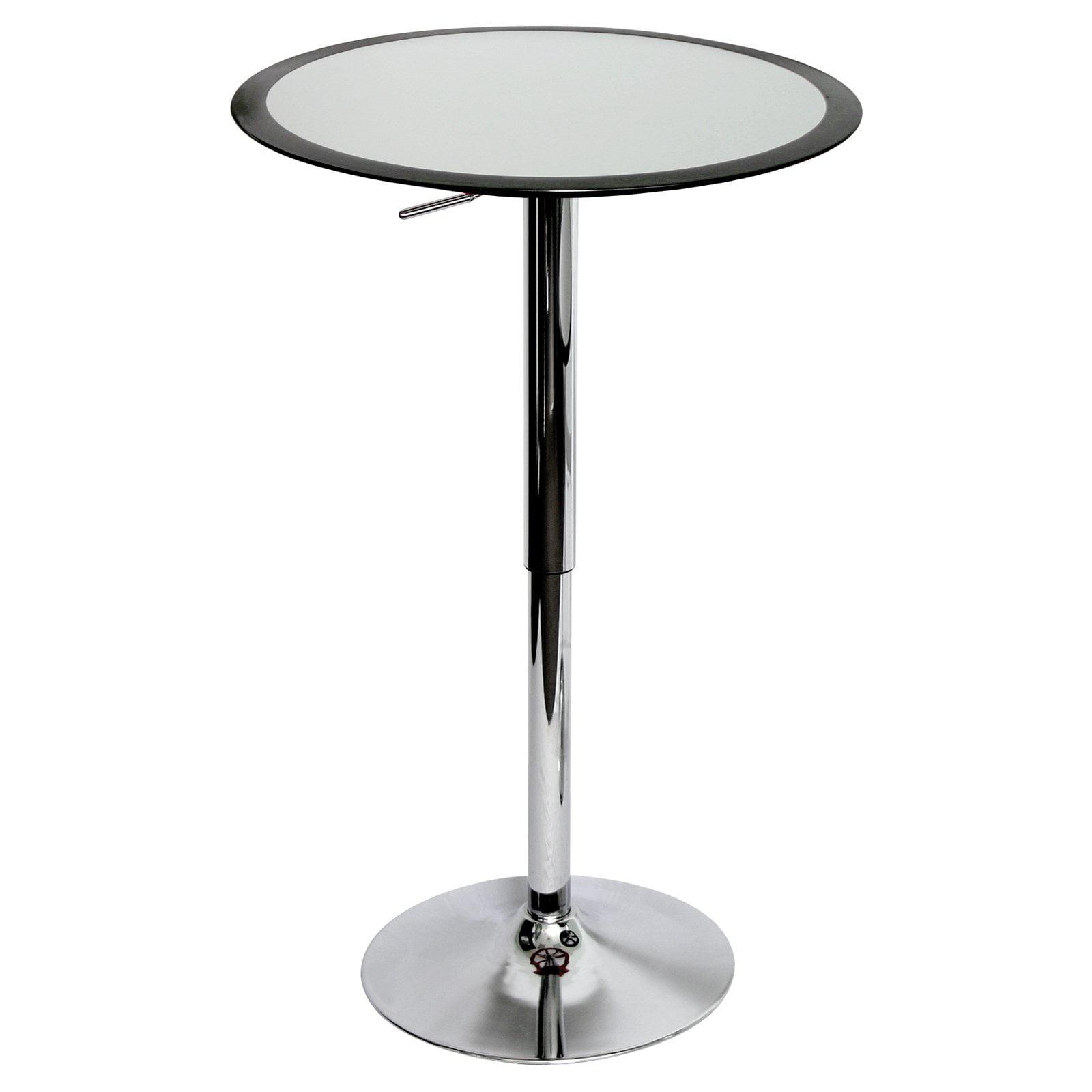 Lumisource Black Ribbon Round Pub Table by LumiSource