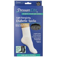 Activa Pressure Lite Light Energizing Diabetic Calf Socks Black Large