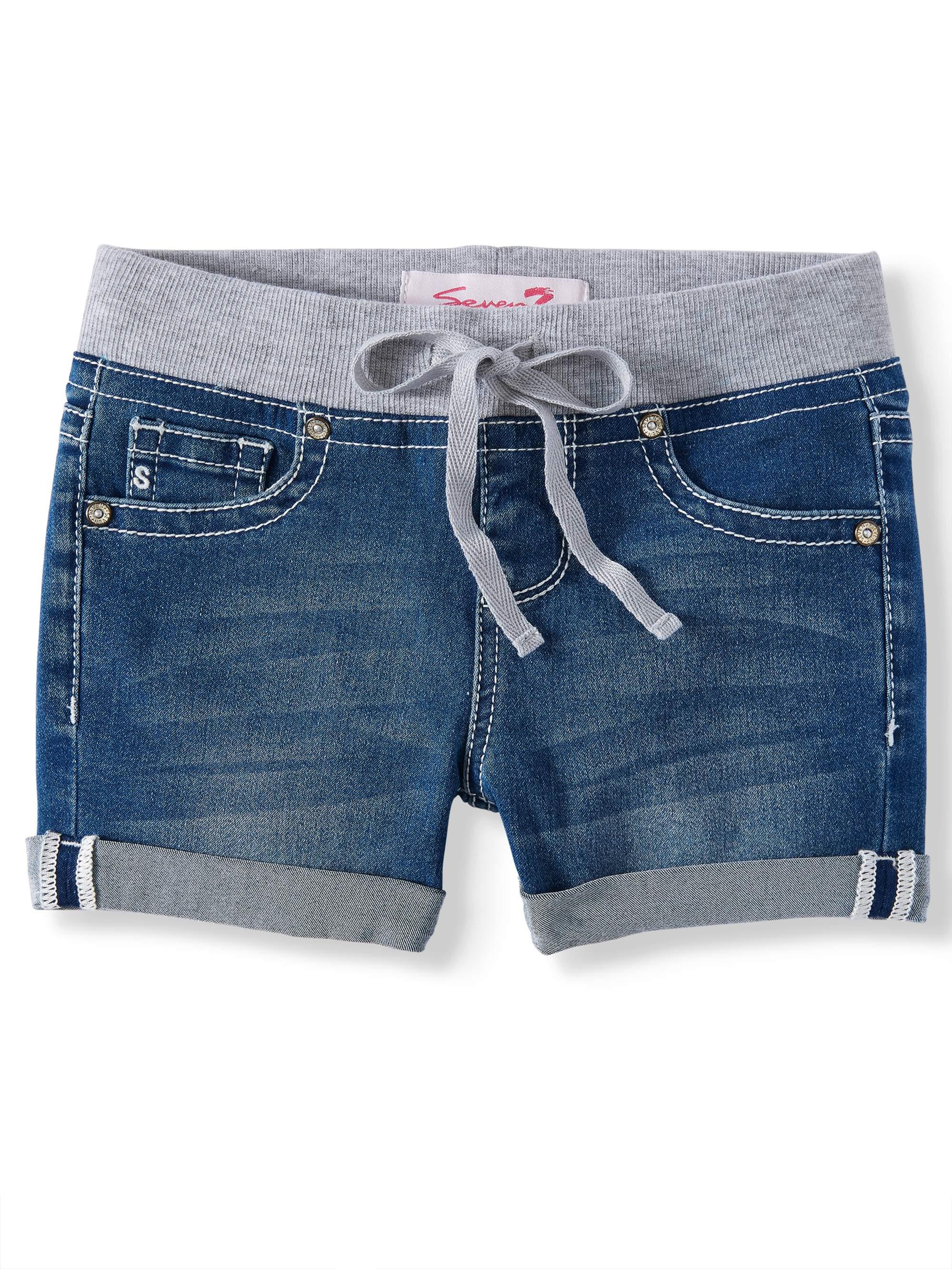 Knit Waist Denim Short (Big Girls)