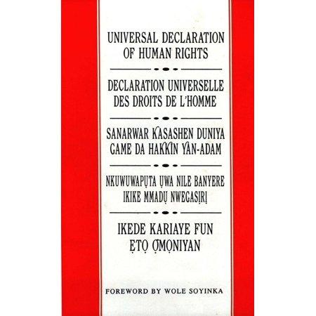 Universal Declaration of Human Rights: English, French, Hausa, Igbo and Yoruba -