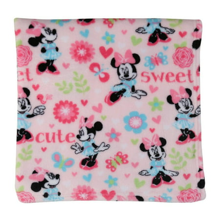 Disney Minnie Mouse Super Soft Fleece Blanket, Pink