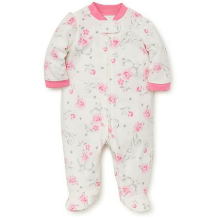 Baby Pajamas Winter Fleece Sleepers Footed Blanket Sleeper Footie Rose Ivory 24 Month