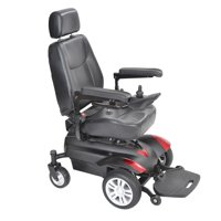 """Drive Medical Titan Transportable Front Wheel Power Wheelchair, Full Back Captain's Seat, 18"""" x 16"""""""