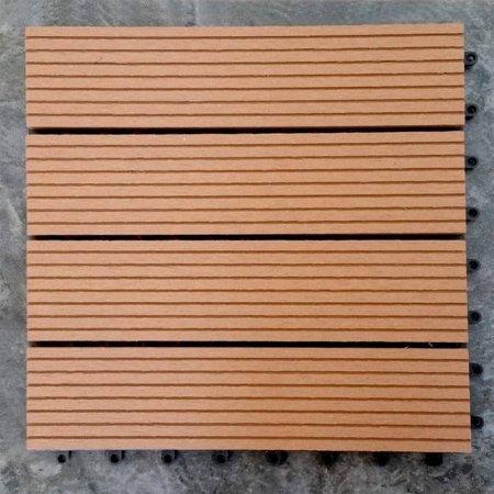 12 X Eco Friendly Wood Plastic Composite Interlocking Decking Tile Light Brown Wpc001 11 Tiles Box