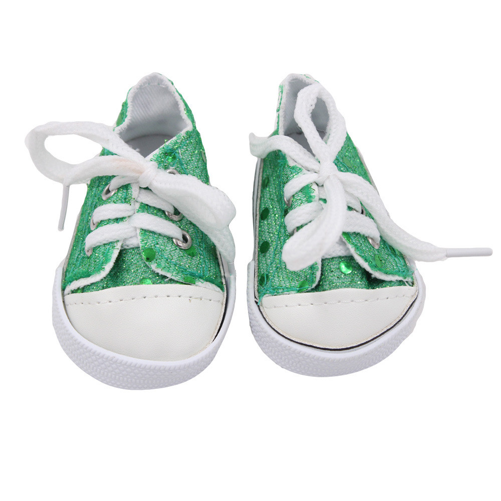 Glitter Doll Shoes Canvas Shoes For 18 Inch Our Generation American Girl Doll