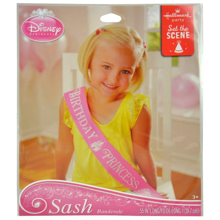 Disney Princess Sash Birthday Party Dress Up Accessory - One Size Fits All - Disney Princess Birthday Party Ideas