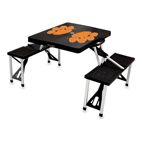 "Picnic Time Folding Table Clemson University Tigers  33.625"" x 4"" x 15"""