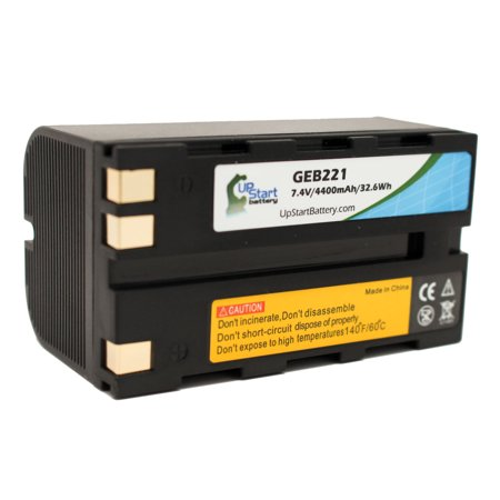 Leica Replacement Battery - Replacement GEB221 Battery for Leica TPS1200, GPS1200, GPS900, GS20, SR20, PIPER 100, GEB221, ATX1230, PIPER 200, RX1200, GRX1200, GX1200, RX900, TC1200 Surveying Equipment - Upstart Battery