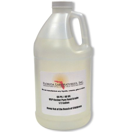 Propylene Glycol & Vegetable Glycerin, 60% PG 40% VG, Half Gallon, Food
