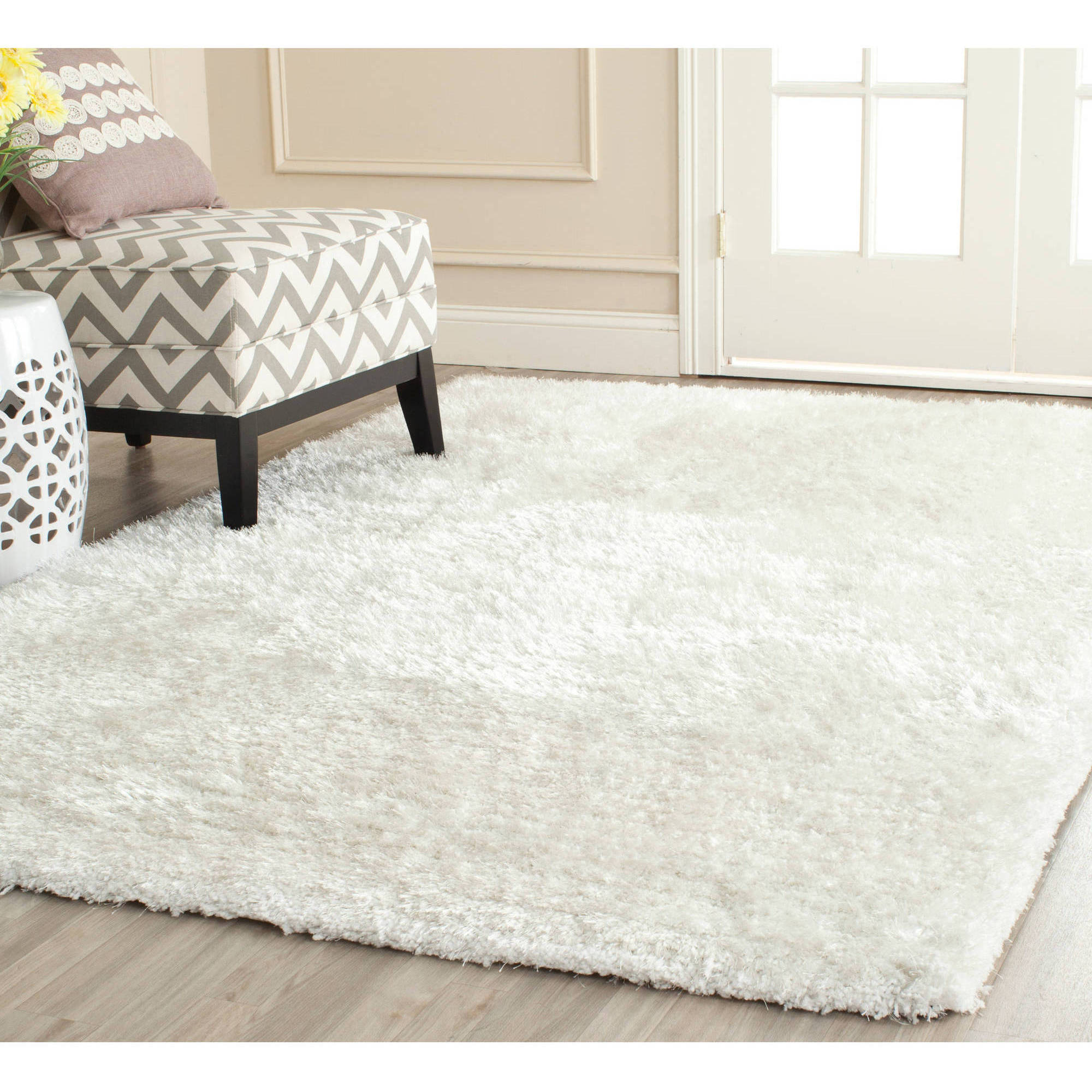 White Shag Rugs