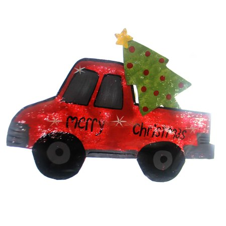 Peri Woltjer RED TRUCK WITH TREE Metal Led Lights Christmas 2020160021 (Peri Woltjer Halloween)