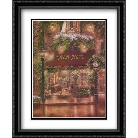 Peter Prisco Trio II 2x Matted 26x32 Large Black Ornate Framed Art Print by Betsy Brown